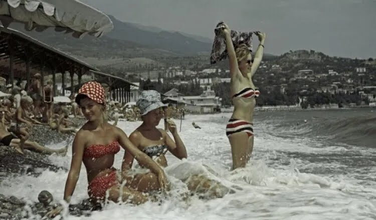 Пляж в СРСР