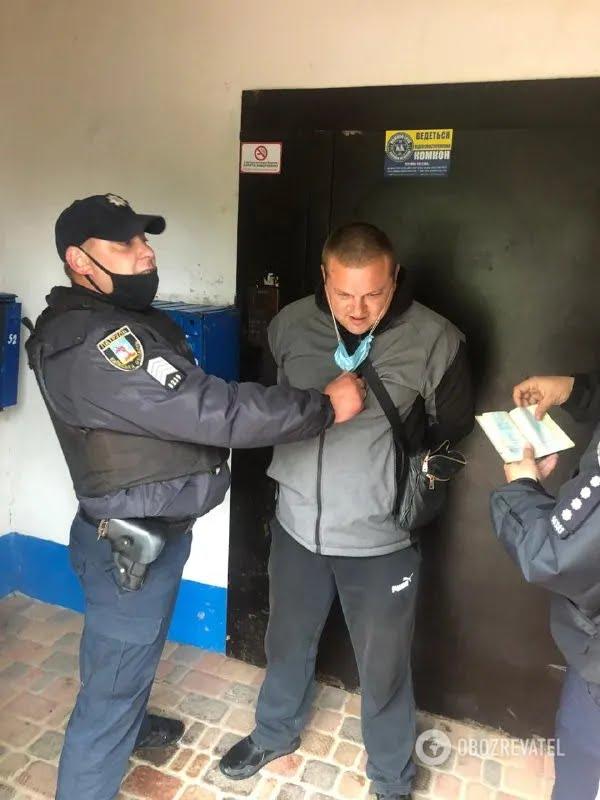 Задержанный в Броварах