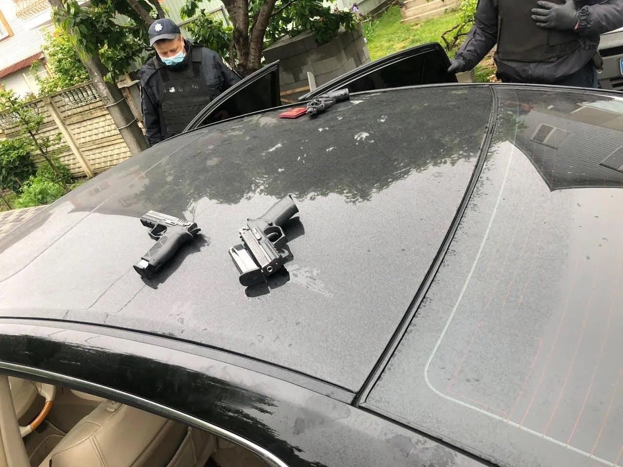 Задержание нападавших в Броварах