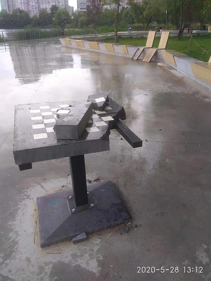 Разбитая шахматная доска