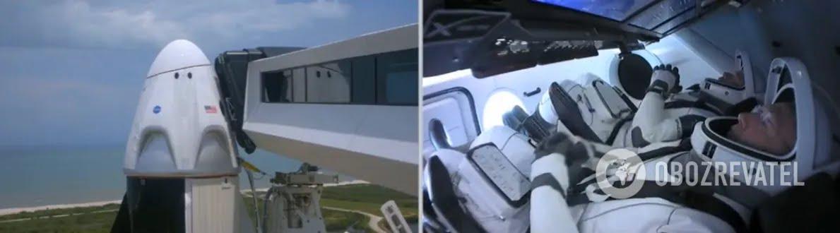 Астронавты NASA полетели в космос на корабле Маска Crew Dragon