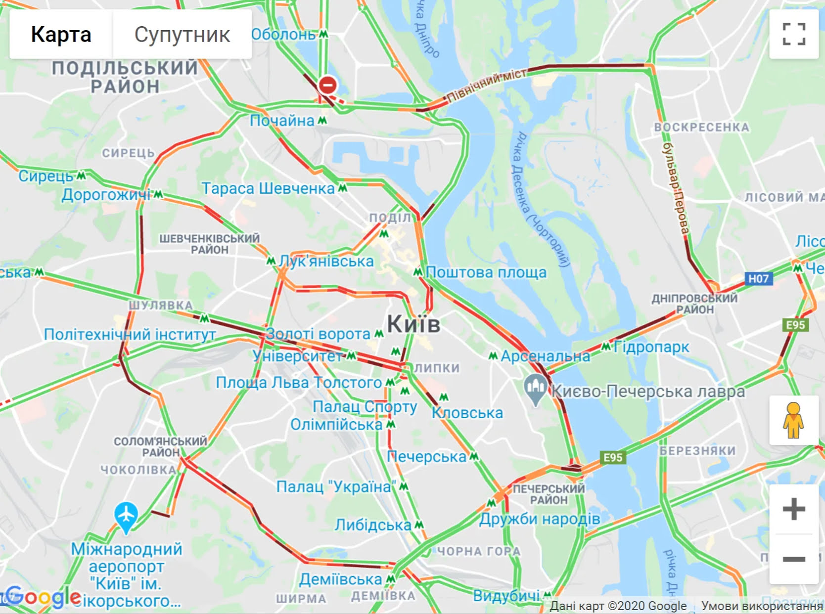 Пробки в Киеве 3 июня