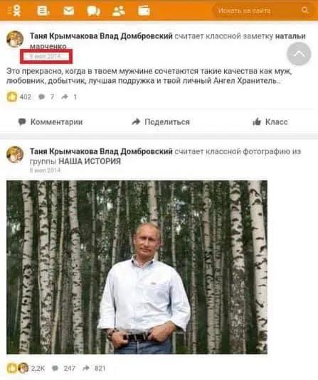 Татьяну Домбровскую заподозрили в любви к Путину и террористам на Донбассе