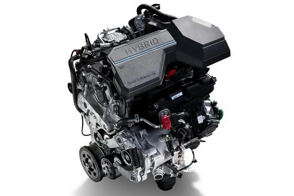 Гибридный бензиновый мотор 1.6 T-GDi Smartstream. Фото: