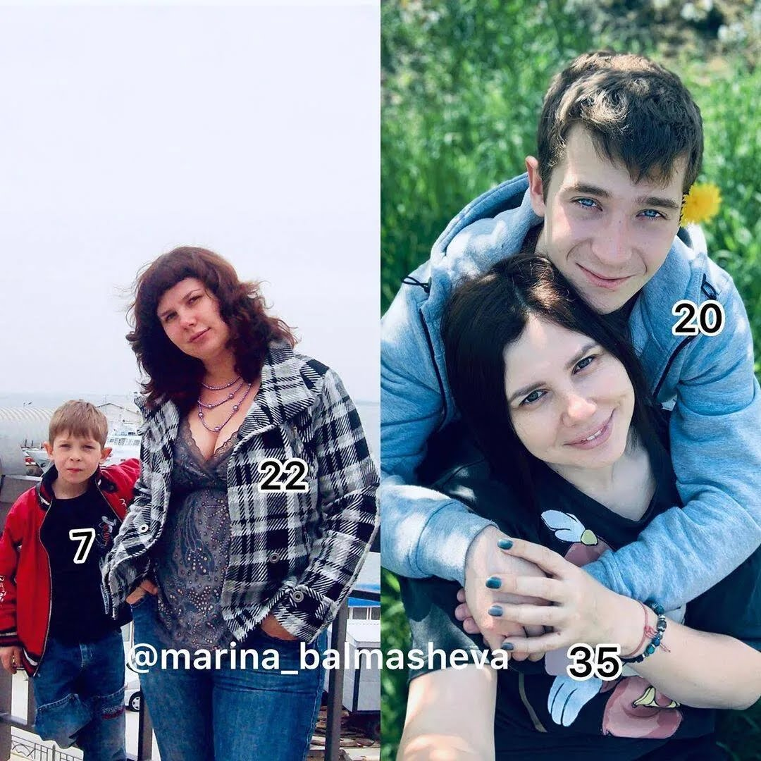 Марина Балмашева з пасинком Володимиром
