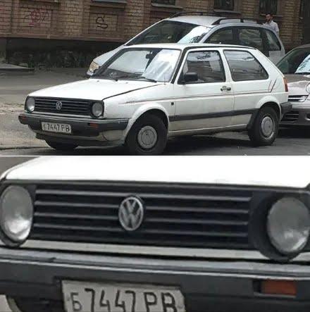 Volkswagen Golf на радянських номерах;
