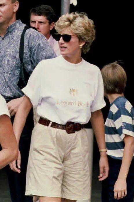 Принцесса Диана охотно носила шорты-бермуды