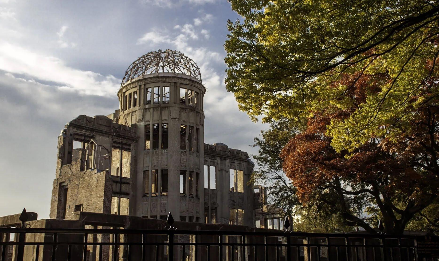 Знаменитый Купол Гэмбаку, до Второй мировой войны являвшийся Выставочным центром торгово-промышленной палаты Хиросимы