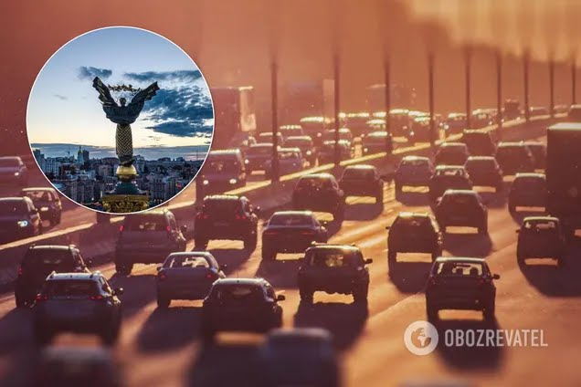 Киев сковали масштабные пробки. Иллюстрация