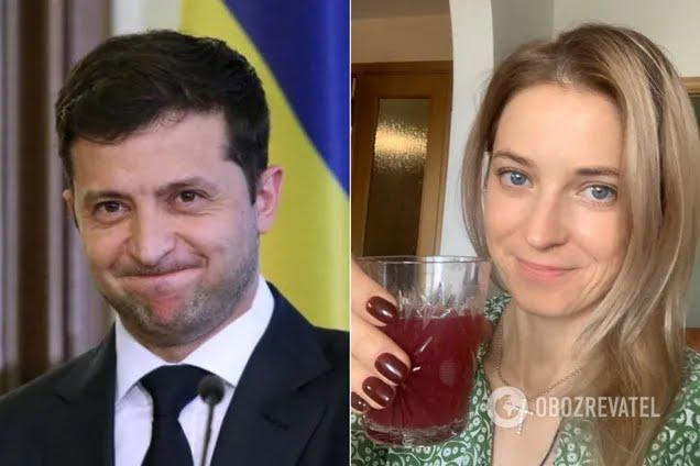 Поклонська привітала Зеленського українською мовою