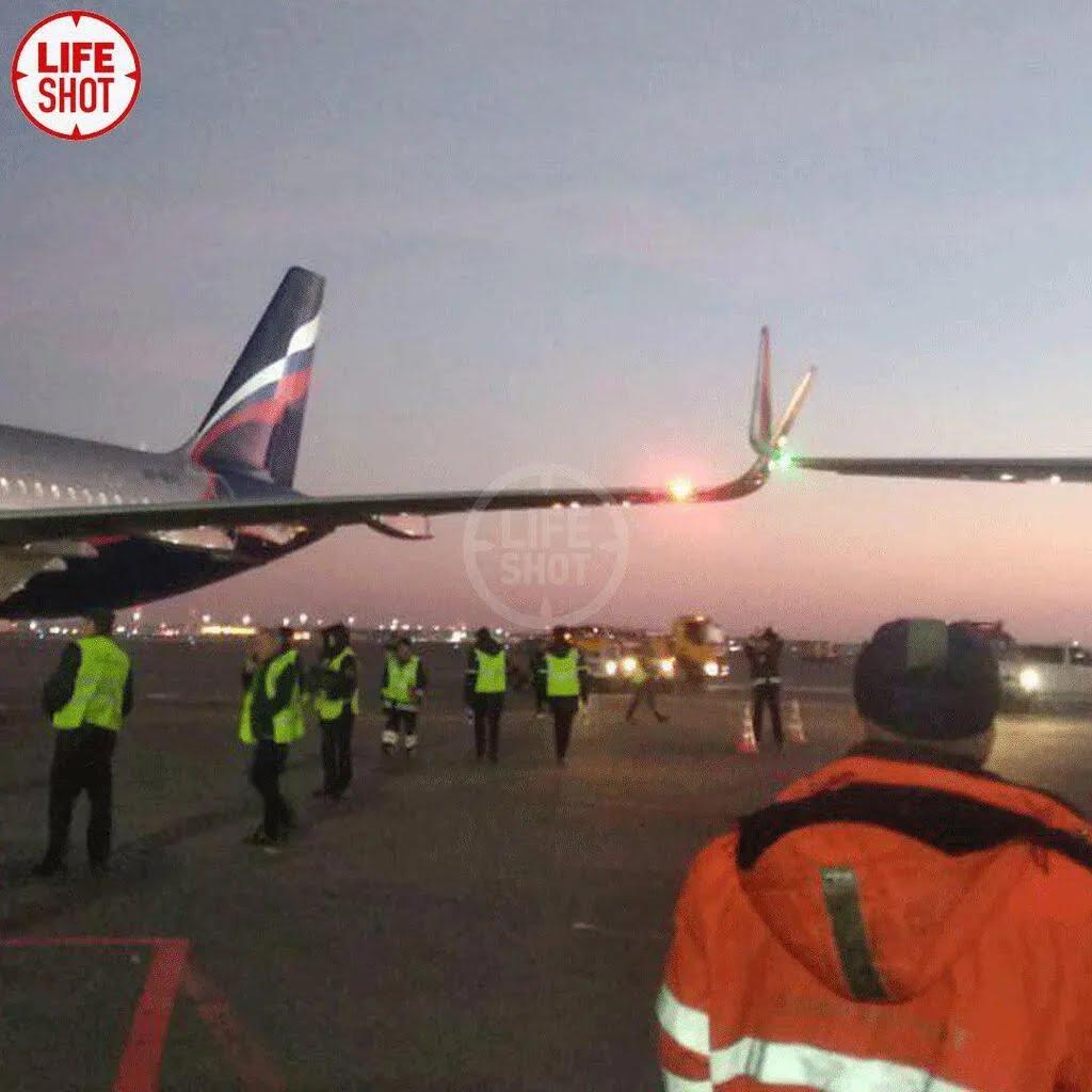 """В """"Шереметьево"""" столкнулись самолеты"""