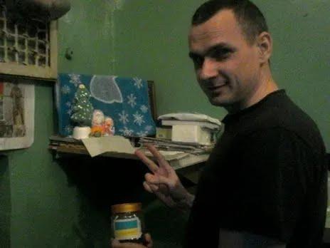 Олег Сенцов в одной из российских тюрем
