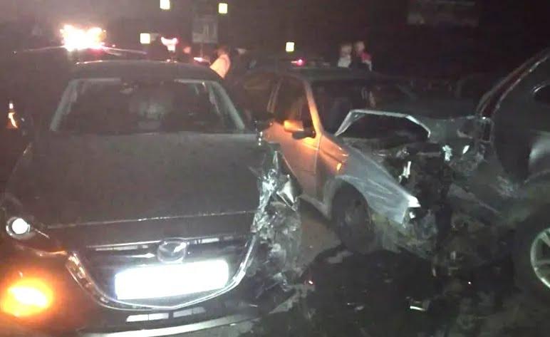 3 листопада в районі перехрестя розбилися шість автомобілів