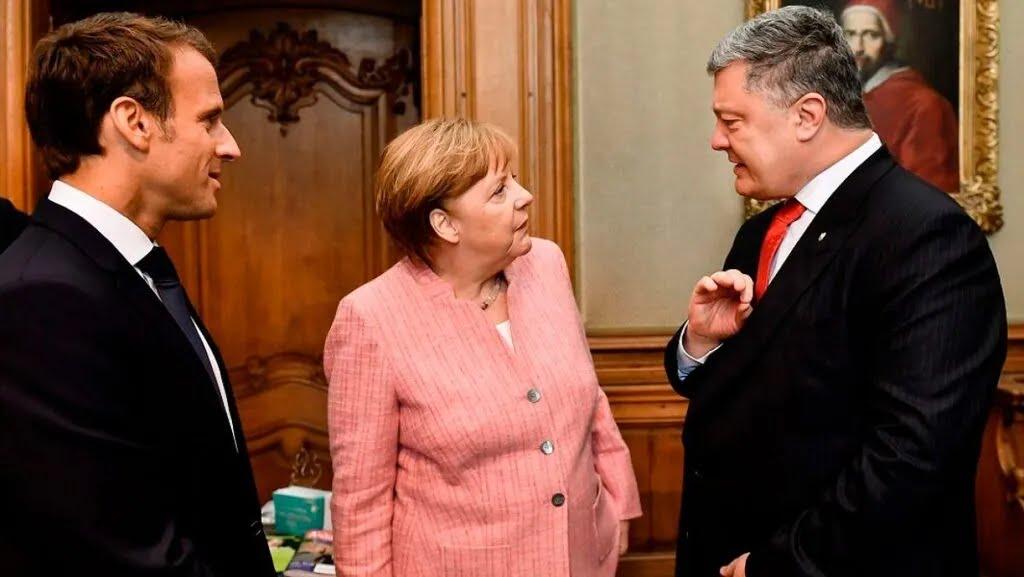 Макрон, Меркель і Порошенко