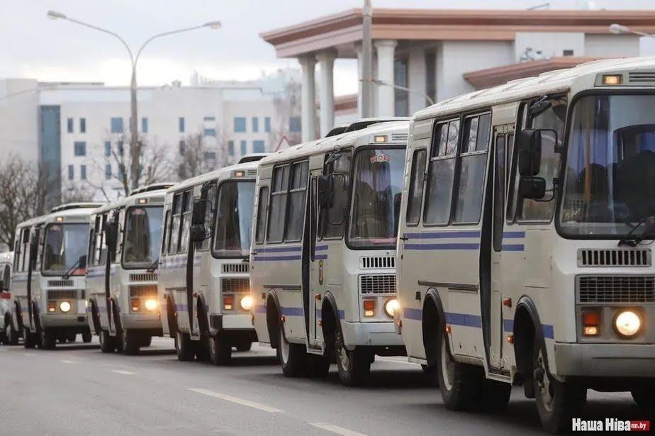 Протесті в Беларуси – автозаки
