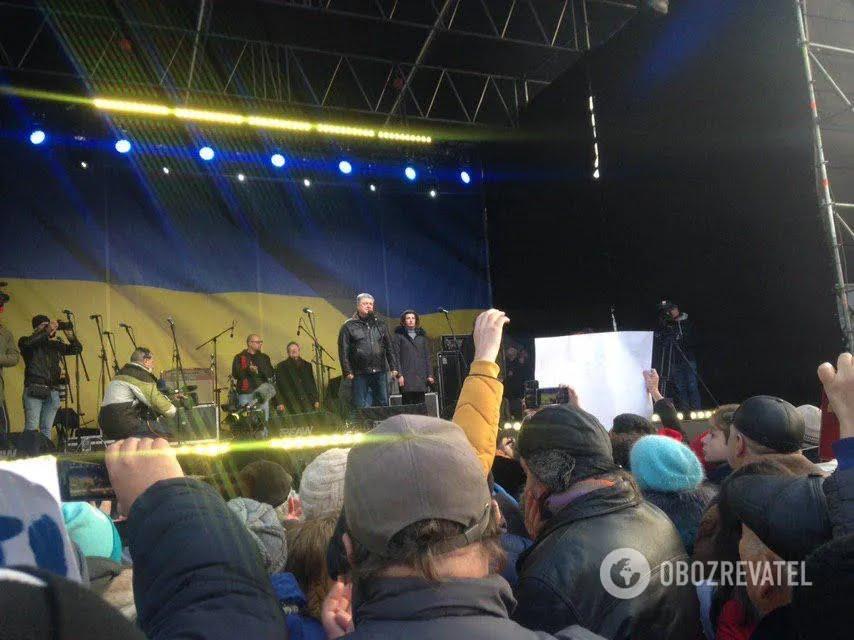 """Петр Порошенко на акции """"Красные линии для Зе"""""""