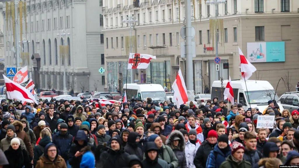 Митинги в Беларуси против интеграции с РФ