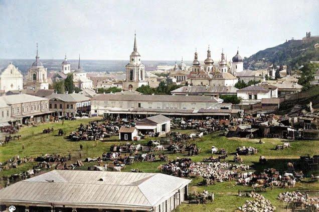 Житний рынок Киева более 100 лет назад